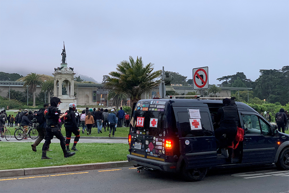 Protestors topple Francis Scott Key statue in San Francisco park