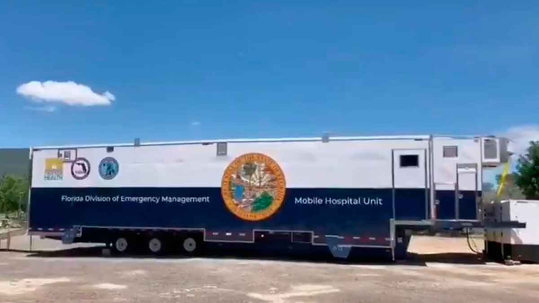 COVID-19 mobile hospital built in Mexico will serve patients in the U.S.