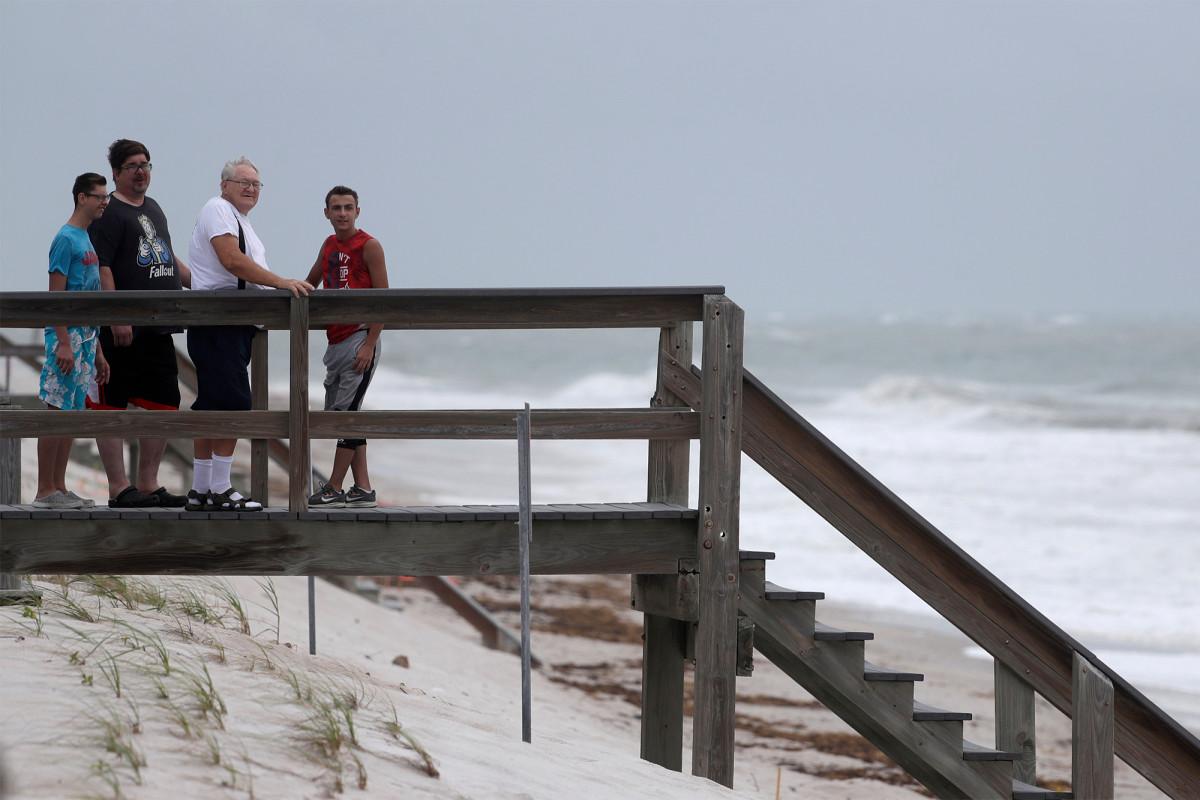 Tropical Storm Isaias weakens as it turns up Atlantic coast