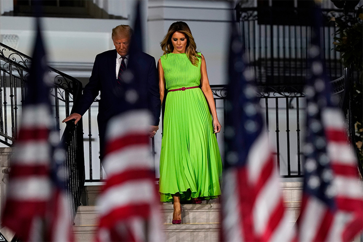 RNC 2020: Melania Trump steals show in lime-green