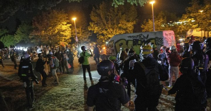 Portland protesters take to the streets, clash with police for 3rd consecutive night - National