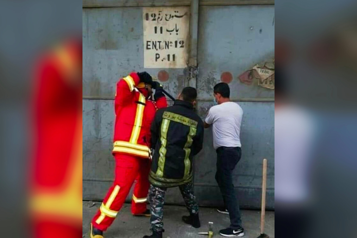 Beirut firefighters pictured entering warehouse just before blast