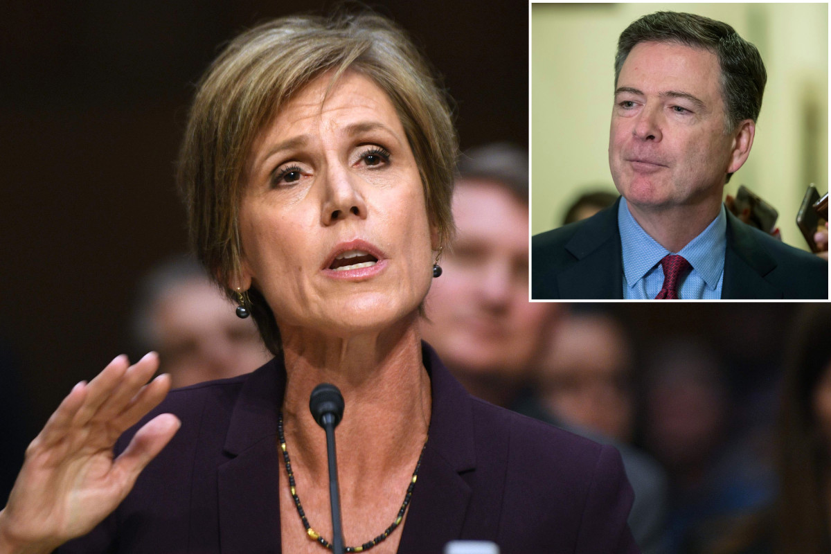 Sally Yates says James Comey went 'rogue' in Mike Flynn case