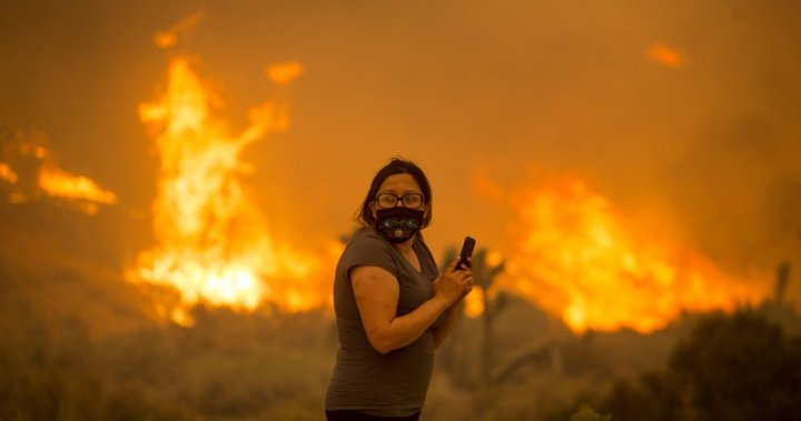 Desert homes near Los Angeles threatened by massive California wildfire - National