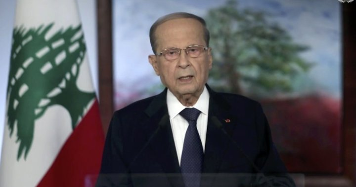 Lebanon leader asks for help, says Beirut is 'trying to rise from its rubble' - National