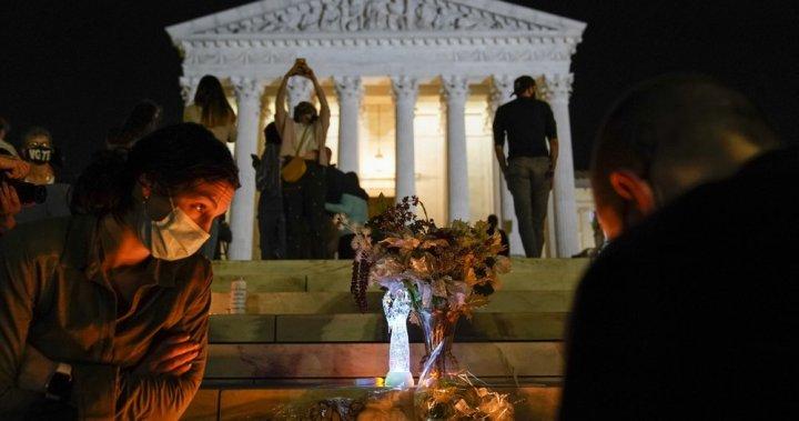 Ruth Bader Ginsburg mourned by hundreds at steps of U.S. Supreme Court - National