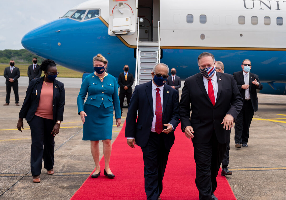 US Secretary Of State Touches Down In Suriname, Guyana
