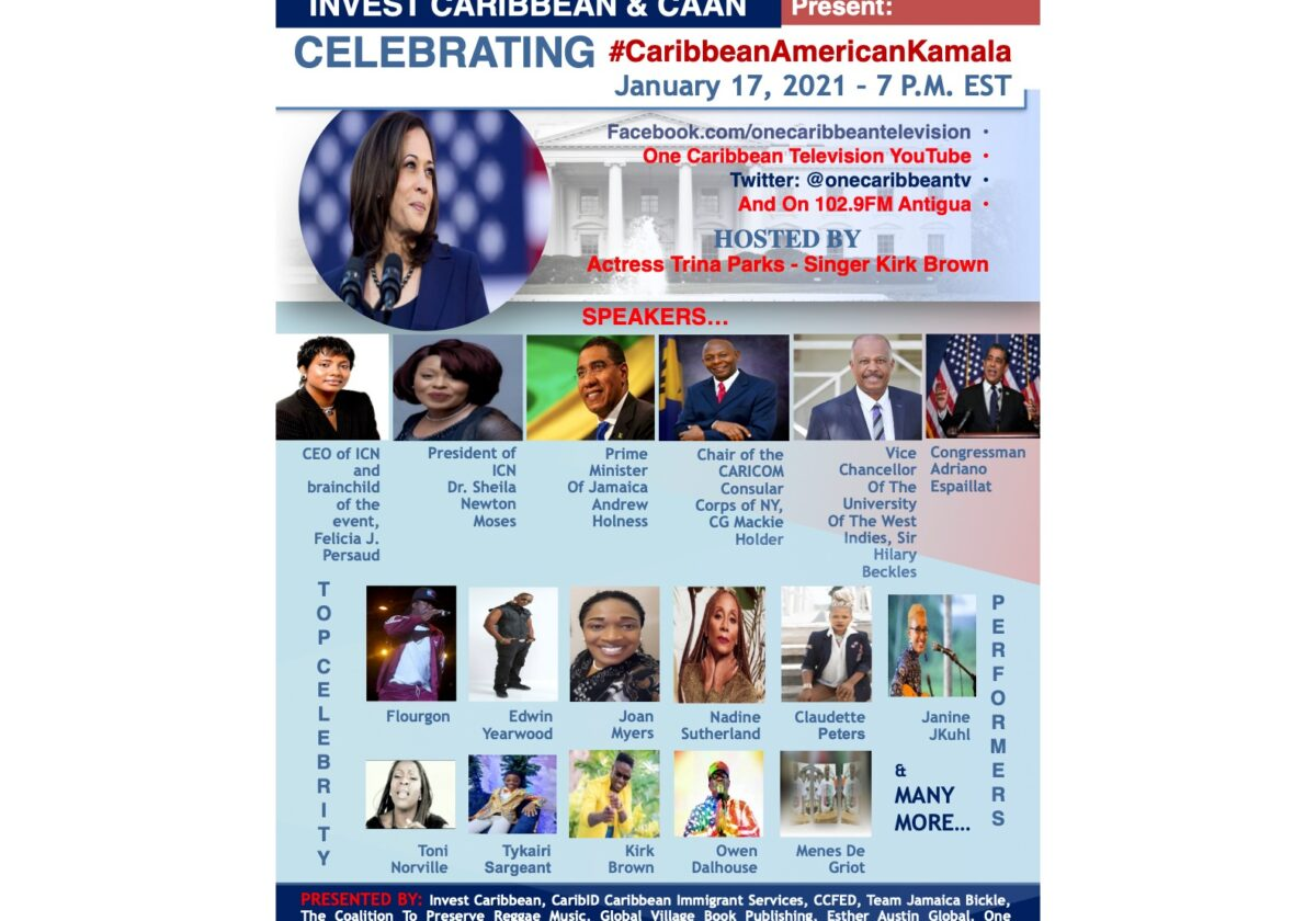 Caribbean Entertainment - Caribbean Musicians Team Up To Celebrate US' First Black Caribbean American Vice President