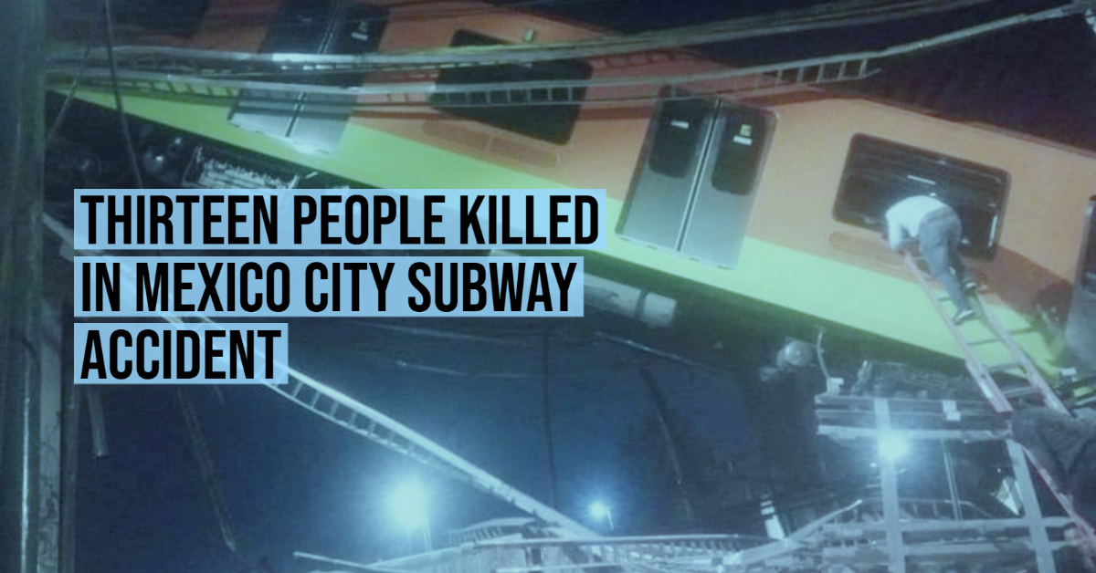 Thirteen people killed in Mexico City subway accident