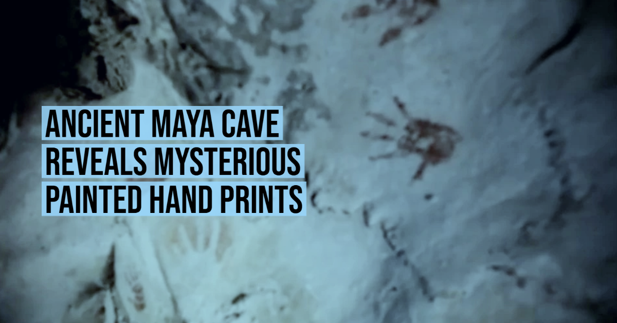 Ancient Maya cave reveals mysterious painted hand prints