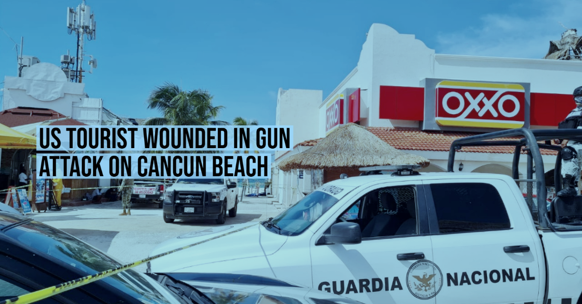 US tourist wounded in gun attack on Cancun beach